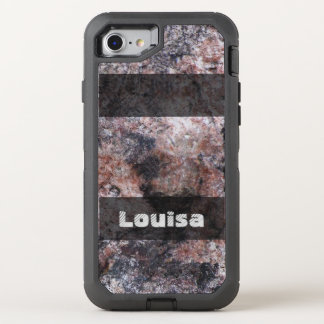 Nature Geology Pinkish Rock Texture any Text OtterBox Defender iPhone 7 Case