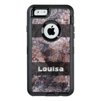 Nature Geology Pinkish Rock Texture any Text OtterBox Defender iPhone Case