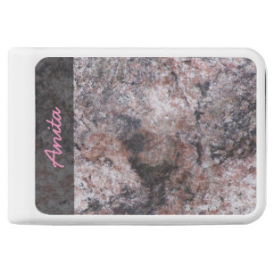 Nature Geology Pinkish Rock Texture any Text Power Bank