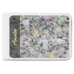 Nature Geology White Granite Rock Pastels any Text Power Bank