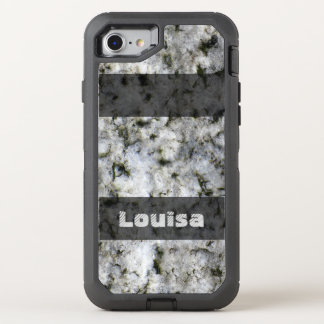 Nature Geology White Rock Texture any Text OtterBox Defender iPhone 8/7 Case