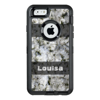 Nature Geology White Rock Texture any Text OtterBox Defender iPhone Case
