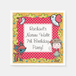 Nature Girl Disposable Paper Napkins