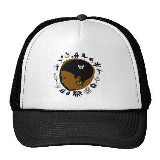 Nature girl in cap trucker hat