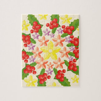 Nature Glory : Fine Red Berry Pattern Jigsaw Puzzle