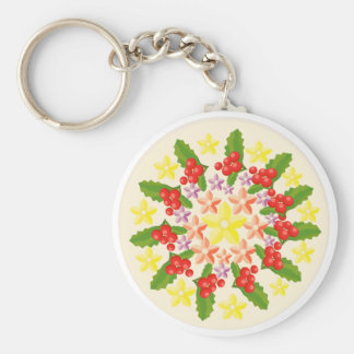 Nature Glory : Fine Red Berry Pattern Keychain