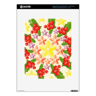 Nature Glory : Fine Red Berry Pattern Skin For iPad 3