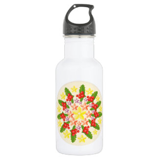 Nature Glory : Fine Red Berry Pattern Water Bottle