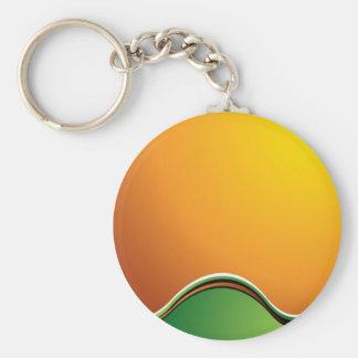 Nature glow basic round button keychain