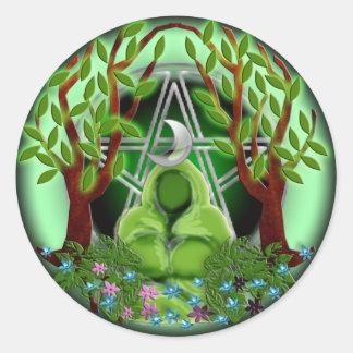 nature goddess classic round sticker