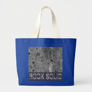 Nature Granite Rock Solid with Blue Details Large Tote Bag