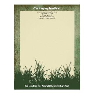 Nature Grass Tree Custom Letterhead