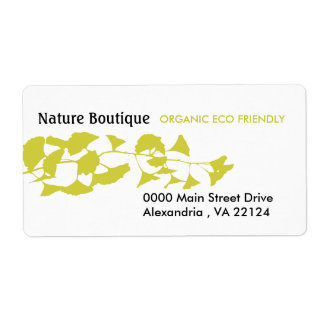 Nature Green Ginkgo Custom Shipping Label