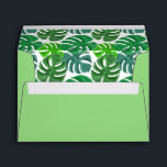 """Nature Green Palms Envelope<br><div class=""""desc"""">Envelopes. Green Tropical Seamless Leaf pattern. 100% Customizable. Ready to Fill in the box(es) or Click on the CUSTOMIZE button to add, move, delete, resize or change any of the font or graphics. Made with high resolution vector and/or digital graphics for a professional print. NOTE: (THIS IS A PRINT. All...</div>"""