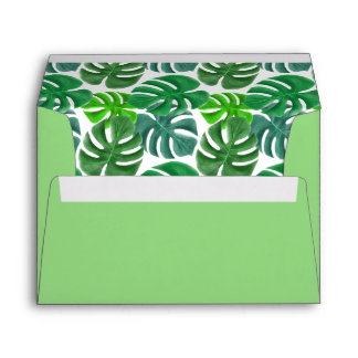 Nature Green Palms Envelope