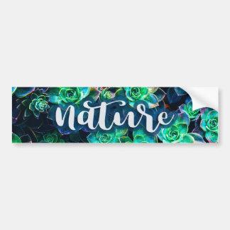 Nature Green Succulent Photo Bumper Sticker