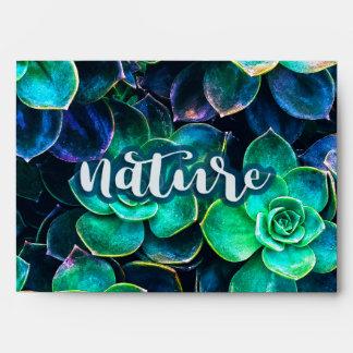 Nature Green Succulent Photo Envelope