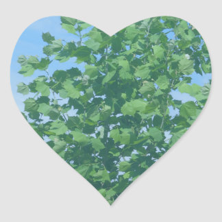 Nature Green Tree Environment Cause NVN674 GIFTS F Heart Stickers