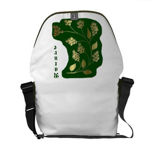 Nature grün-gold bolsa messenger