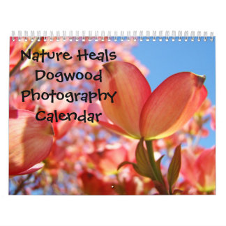 Nature Heals Pink Dogwood Trees Landscapes Floral Wall Calendars