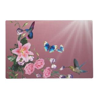 Nature Hummingbirds Flowers Butterflies Placemats
