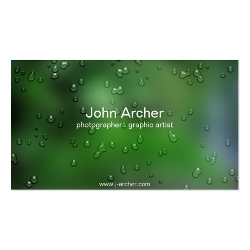 Nature I Double-Sided Standard Business Cards (Pack Of 100)