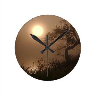 Nature Images Round Clocks