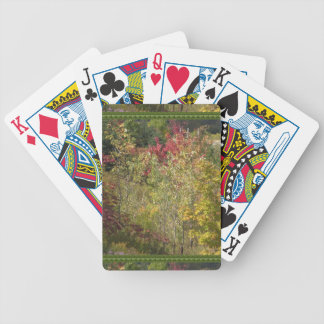 Nature images wild warm patterns seasonsGreetings Bicycle Playing Cards