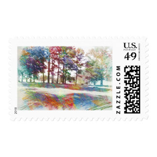 Nature in Abstract Postage Stamps