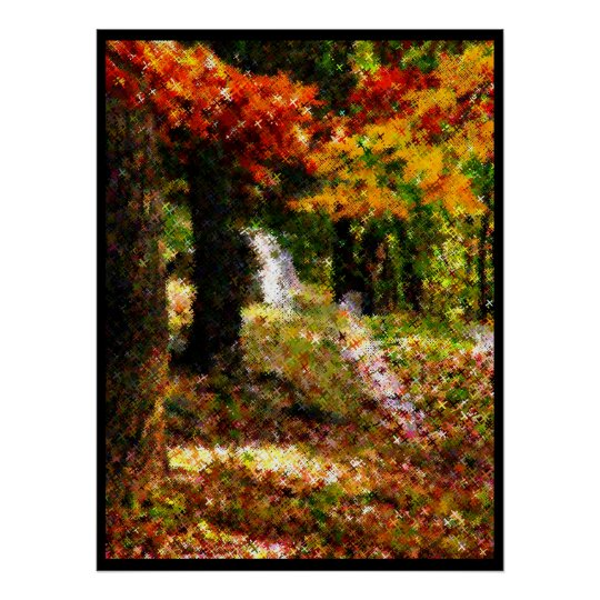 Nature in Cross Stitch Poster