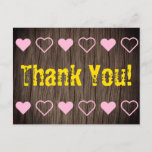 """[ Thumbnail: Nature-Inspired and Rustic """"Thank You!"""" Postcard ]"""