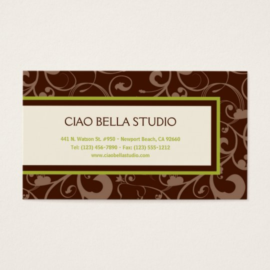 Nature-Inspired Elegance Business Card