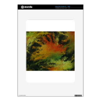 Nature inspired mosaic decals for the iPad