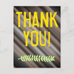 """[ Thumbnail: Nature-Inspired & Rustic """"Thank You!"""" Postcard ]"""