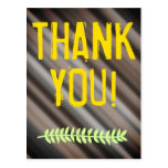 "[ Thumbnail: Nature-Inspired & Rustic ""Thank You!"" Postcard ]"