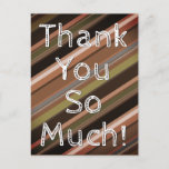 """[ Thumbnail: Nature-Inspired """"Thank You So Much!"""" Postcard ]"""