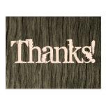 "[ Thumbnail: Nature Inspired ""Thanks!"" Postcard ]"