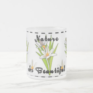 Nature Is Beautiful Frosted Glass Coffee Mug