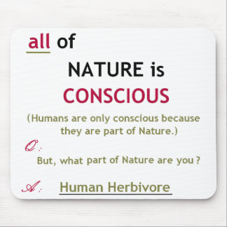 Nature is Conscious Mousepad