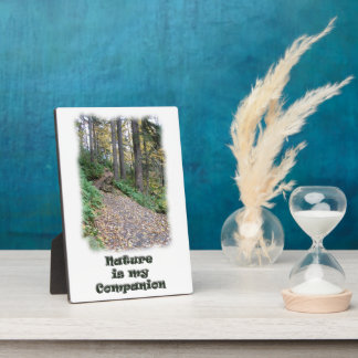 Nature is my Companion / Hiking Trail Plaque