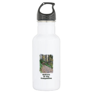 Nature is my Companion / Hiking Trail Stainless Steel Water Bottle