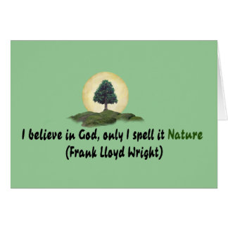 Nature Is My God Greeting Card