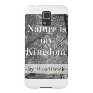 """Nature is my kingdom"" - writing&snowy treetops Case For Galaxy S5"