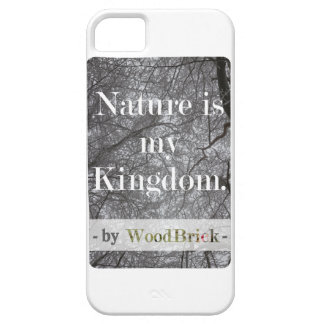 """Nature is my kingdom"" - writing&sowy treetops iPhone SE/5/5s Case"