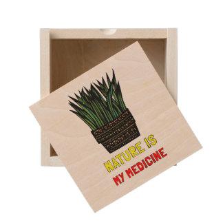 """""""Nature is My Medicine"""" Wood Keepsake Box"""