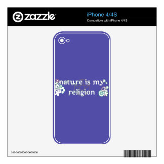 Nature is my religion phone case for HTC iPhone 4 Skins