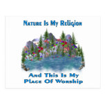 Nature Is My Religion Post Card