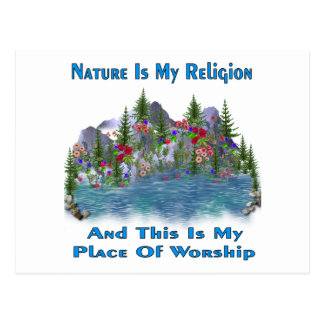 Nature Is My Religion Postcard