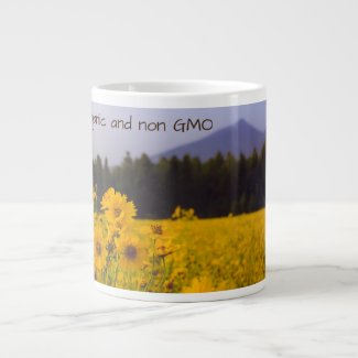 Nature is...Organic and non GMO Jumbo Mug