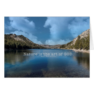 Nature is the art of GOD. Ralph Waldo Emerson Greeting Card